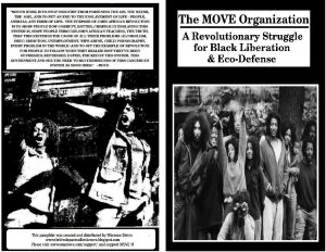 the move organization was a radical movement that surfaced in philadelphia during the early 1970s characterized by dreadlock hair the adopted surname